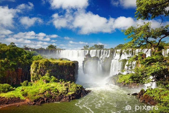 Fototapeta winylowa Iguassu Falls, widok od strony argentyńską - Brazylia
