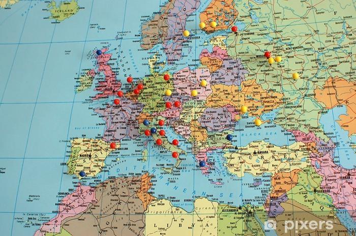 Euroopan Kartta Pixerstick Tarra Pixers Elamme Muutoksille
