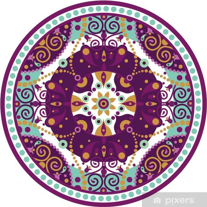 Çıkartması Pixerstick Mandala yuvarlak - Duvar Çıkartması