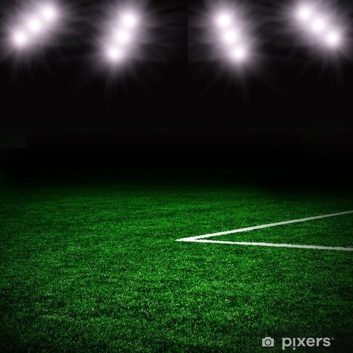 Naklejka Pixerstick Piłka nożna na zielonym polu - Sporty drużynowe