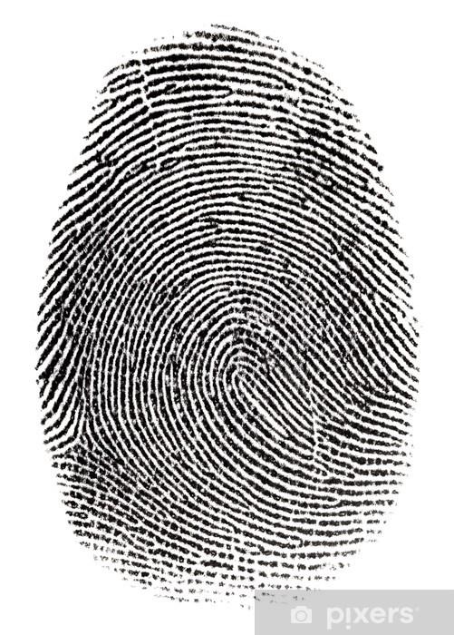 Fototapeta winylowa Prawdziwe fingerprint w białym tle Super makro - Przestępczość