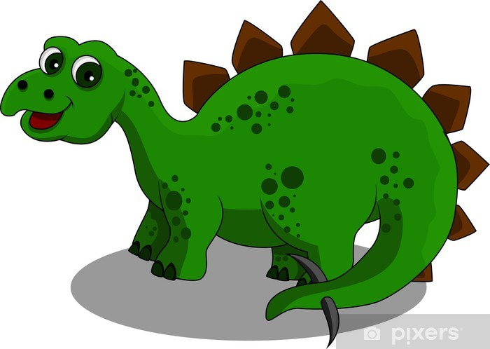 Carta da parati dinosauro cartone animato divertente u pixers
