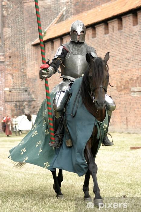 Sticker Pixerstick Chevalier à cheval - Chevaliers