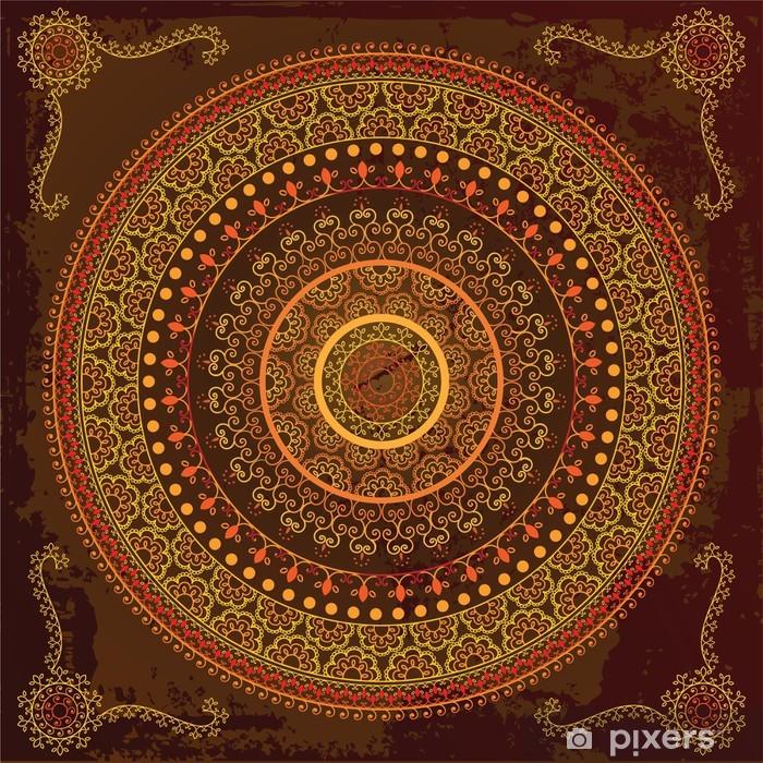 Fototapeta winylowa Henna mandala design - bardzo szczegółowe i łatwo edytowalne - Tła