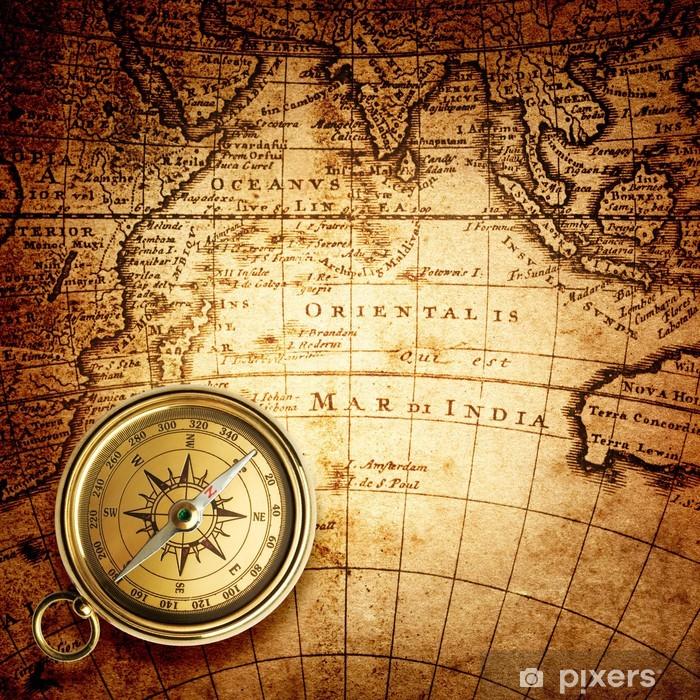 Vanha Kompassi Ja Koysi Vintage Kartta 1732 Tapetti Pixers