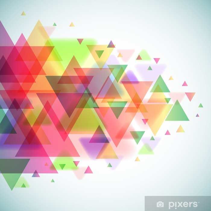 Abstract Colorful Triangles Vector Background Poster