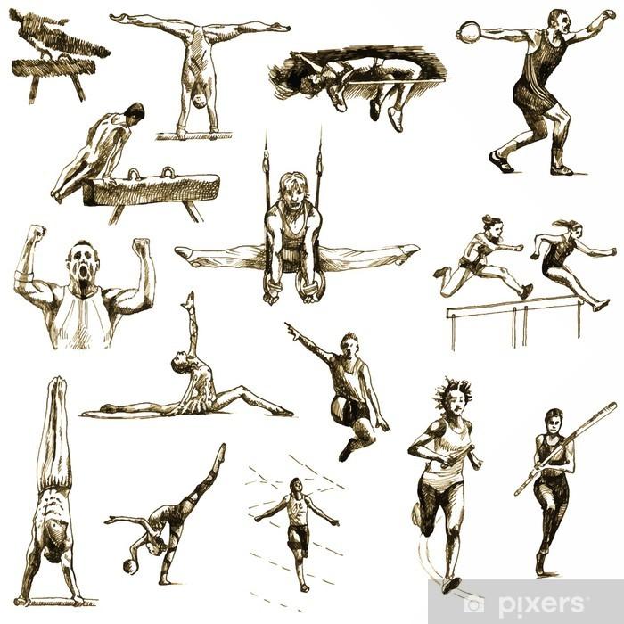Vinilo Pixerstick Colección Verano deportes - dibujos a mano convertida en vector - Deportes individuales