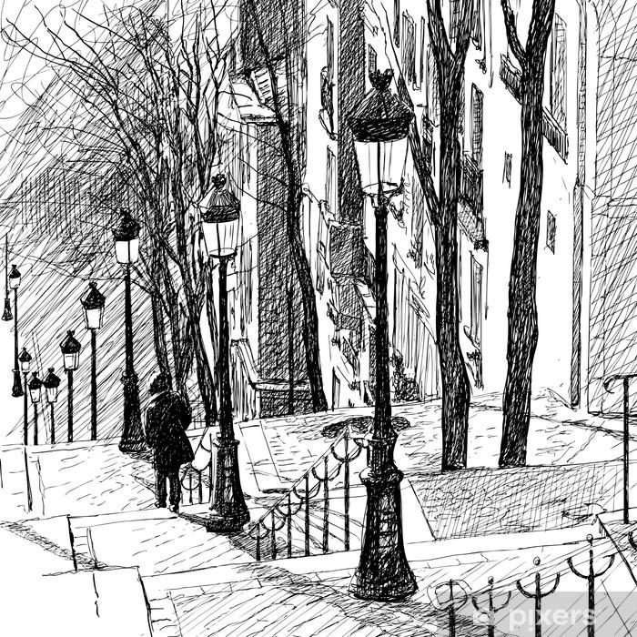 Fotomural Estándar Montmartre en París - Temas