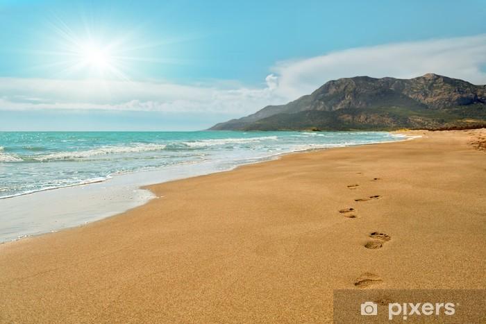 Fototapeta winylowa Footprints na plaży Patara w Turcji - Wakacje
