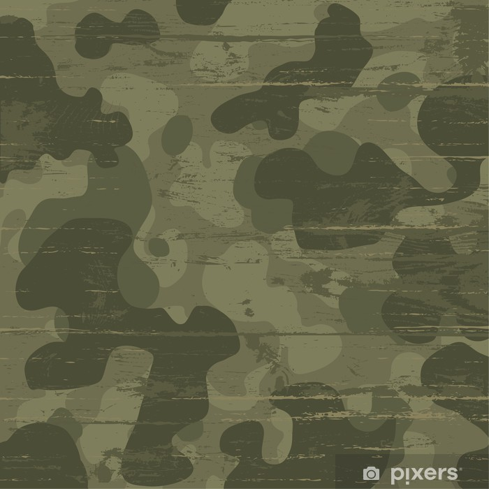 Camouflage military background. Vector illustration, EPS10 Pixerstick Sticker - Themes