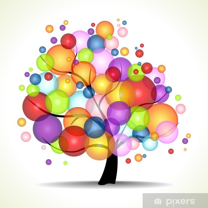 Naklejka Pixerstick Drzewo życia - Świętowanie
