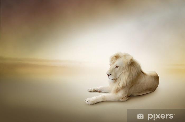 597164d156786 Papier peint Photo de luxe de lion blanc, le roi des animaux ...