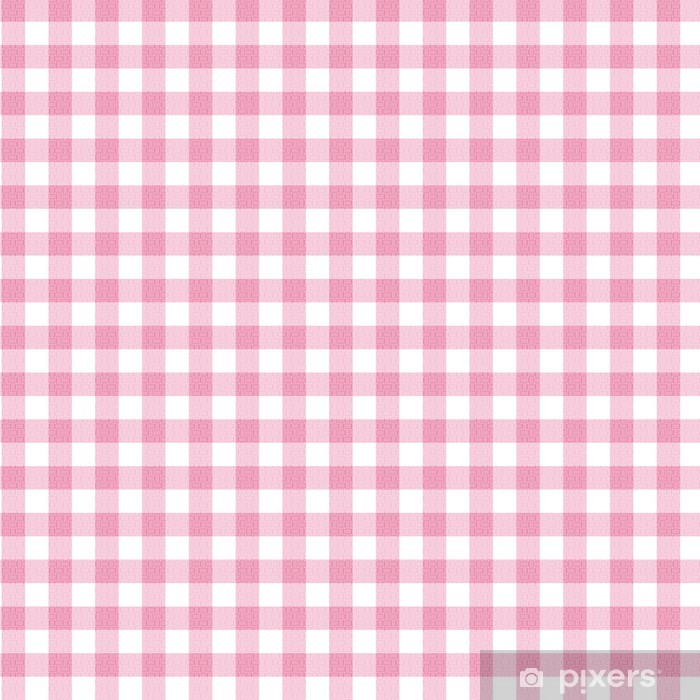 Pink Gingham Fabric Background Wall Mural Pixers 174 We