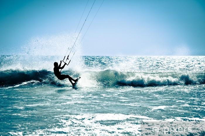 Naklejka Pixerstick Kite surfing na falach. - Tematy