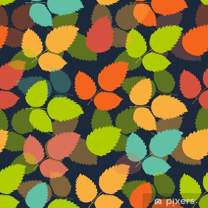 Poster Nahtlose bunte Blatt Muster. Vector - Jahreszeiten