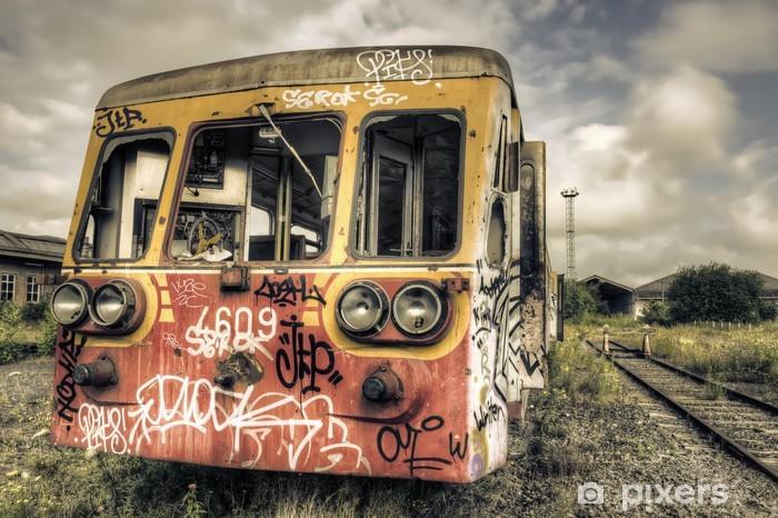 Naklejka Pixerstick Porzucone tagged wagon - Tematy