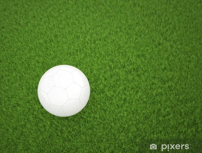 Fotomural Estándar Balón de fútbol en hierba verde vista desde arriba -  Fondos f927148766c73