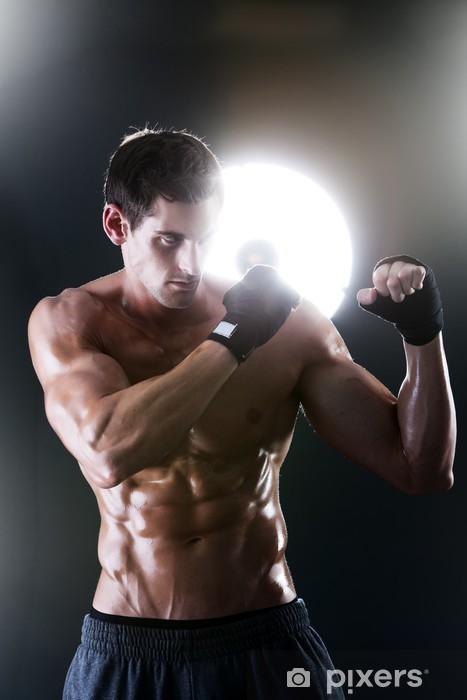 Fototapeta winylowa Muskularny facet sport gołym boksu tułowia - Tematy