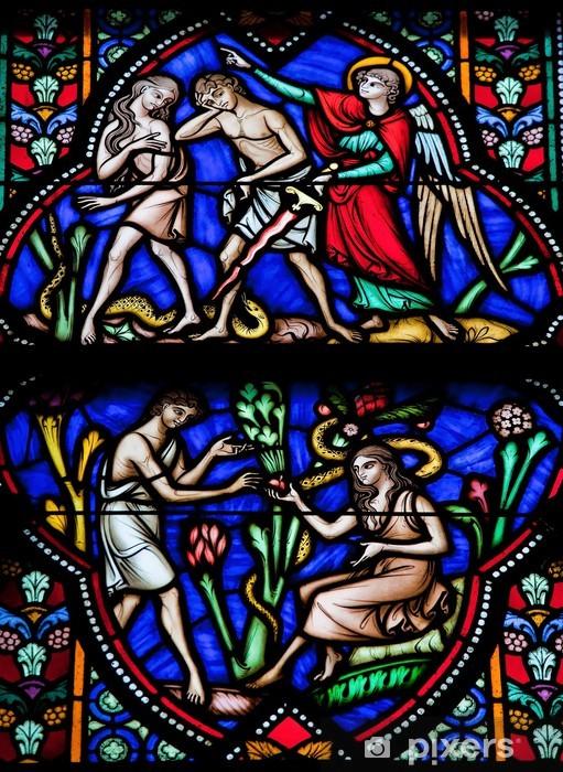 Papier peint vinyle Adam et Eve dans le jardin d'Eden - Bâtiments publics