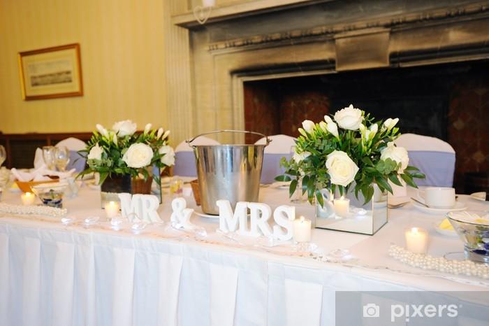 Papier peint vinyle Top table à mariage - Couples
