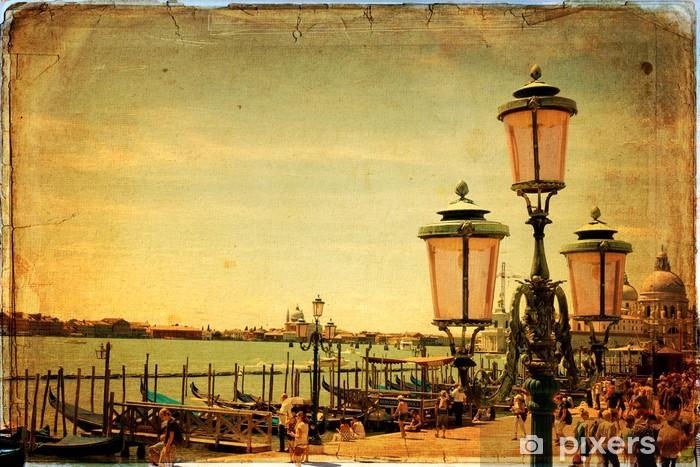 Naklejka Pixerstick Wenecja - Stara karta - stary papier - Miasta europejskie
