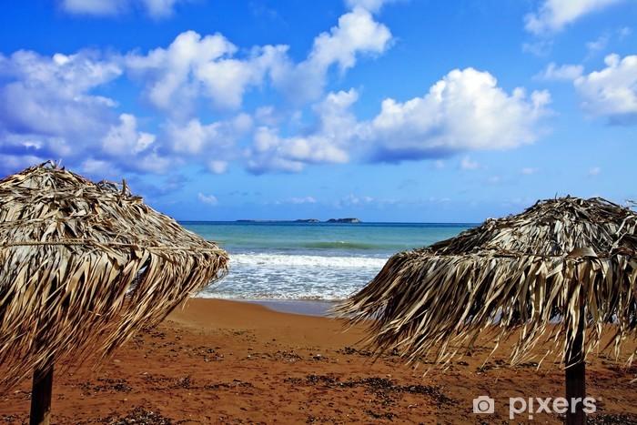 Vinylová fototapeta Grèce; ioniennes, kefalonia: plage de Xi - Vinylová fototapeta