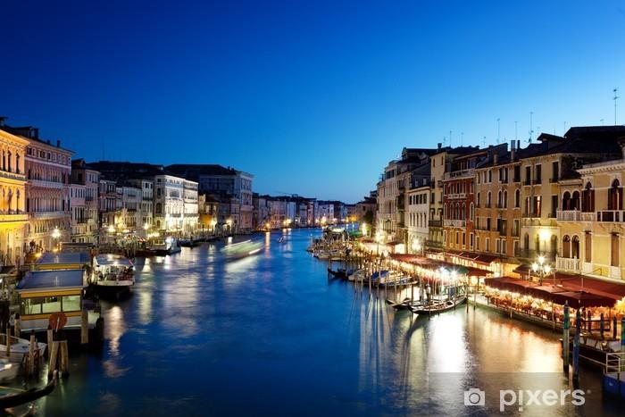 Fototapeta winylowa Canal Grande w Wenecji, Włochy na zachodzie słońca - Tematy