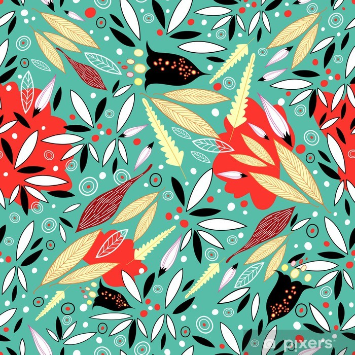 Plakat Tekstura z liści - Pory roku