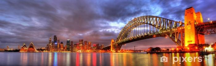 Sydney Harbour with Opera House and Bridge Pixerstick Sticker - Themes