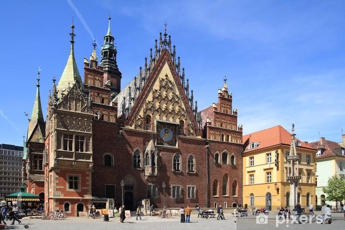 Papier peint vinyle Hôtel de ville de Wroclaw (Pologne) - Thèmes