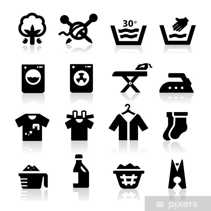 Fotomural Autoadhesivo Icono de lavandería - Señales y símbolos