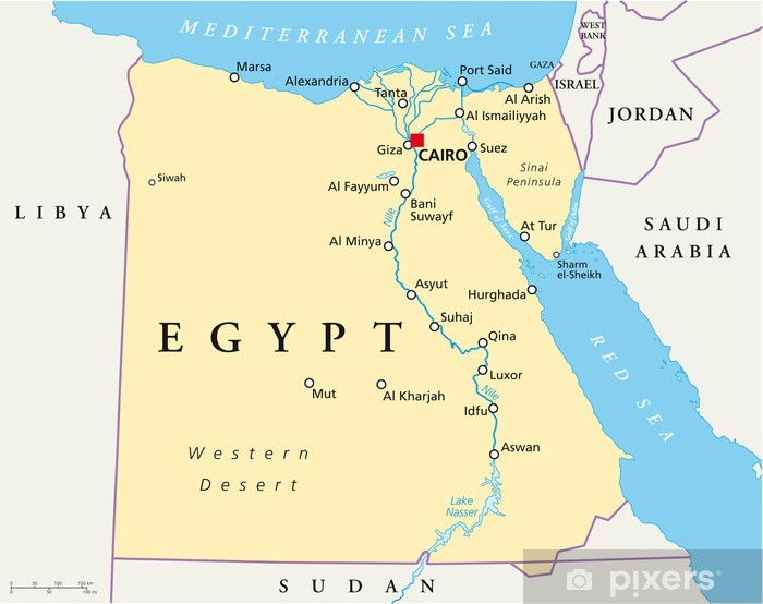 Egypt Map Agypten Landkarte Wall Mural Pixers We Live To Change