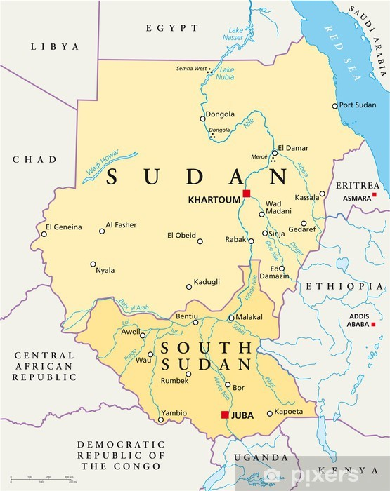 Sudanin Kartta Sudan Landkarte Tapetti Pixers Elamme