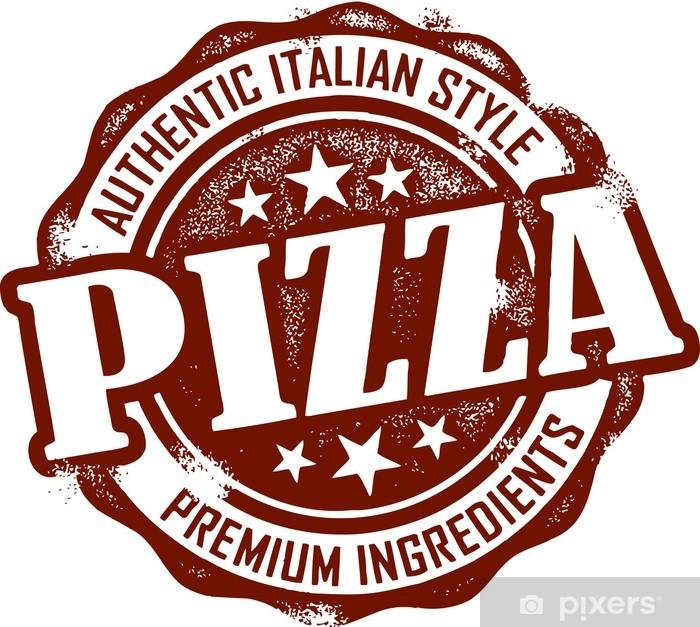 Plakát Vintage Style Pizza razítko - Jídla