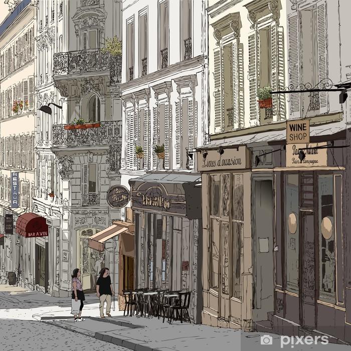 Fotomural Estándar Calle en Montmartre - Temas