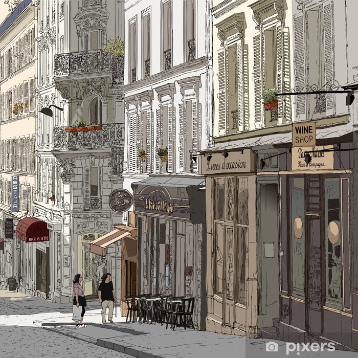 Street in Montmartre Vinyl Wall Mural - Themes