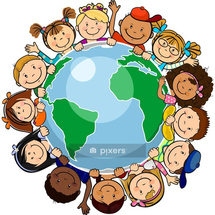 All united in the world Wall Decal - Wall decals