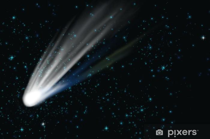 Sticker Pixerstick Comet sur un ciel étoilé - Espace