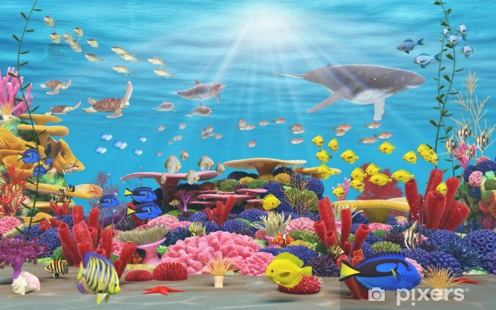 Vinyl-Fototapete Unterwasser-Paradies - Themen