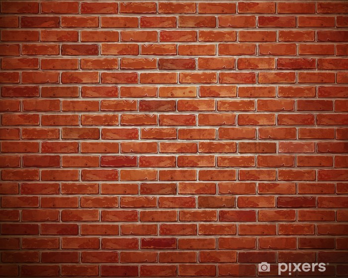 Red brick wall background. Vinyl Wall Mural - Styles
