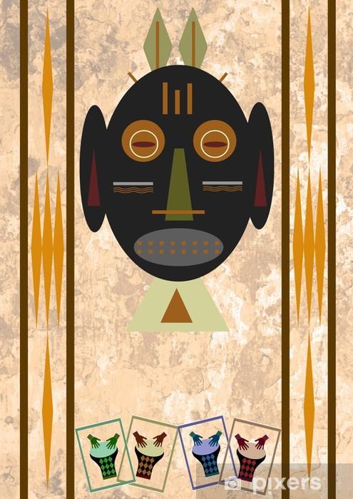 Naklejka Pixerstick African mask - Afryka
