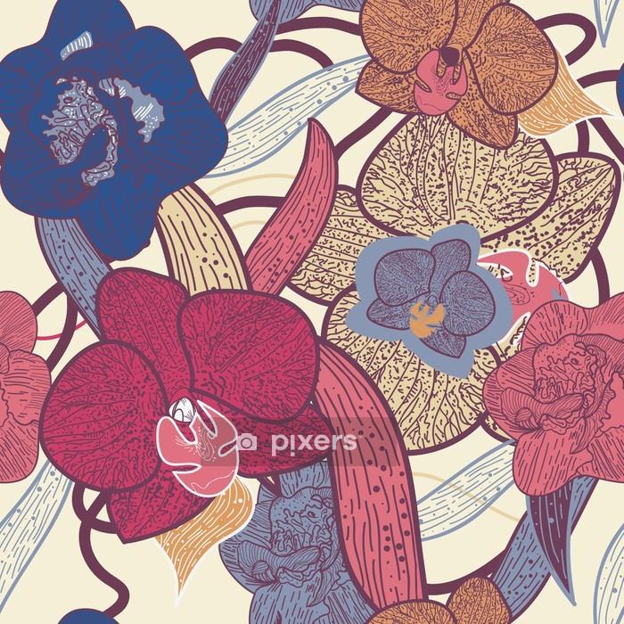 Housse de couette Seamless floral texture - Arrière plans