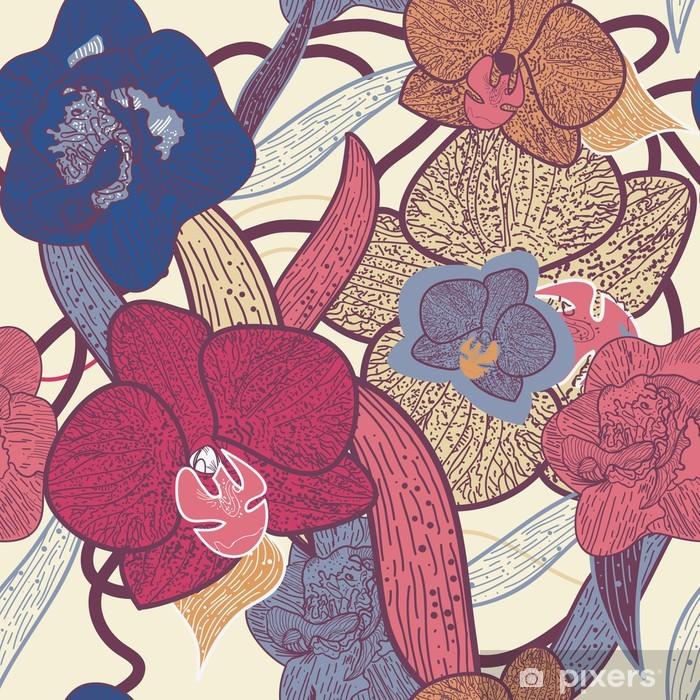 Kussensloop Naadloze bloementextuur - Achtergrond