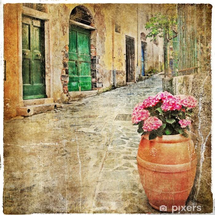 Viehättäviä vanhoja välimerellisiä katuja Vinyyli valokuvatapetti -