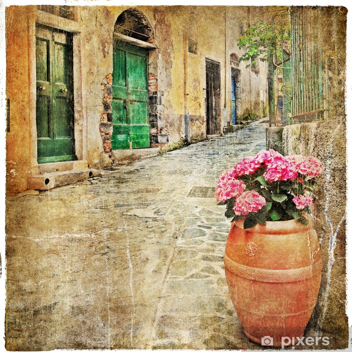 charming old streets of mediterranean Vinyl Wall Mural - Themes