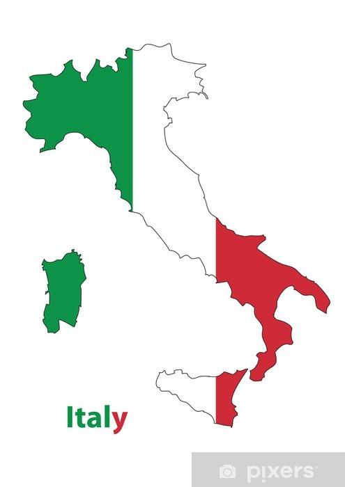 Nálepka Pixerstick Itálie - Evropa