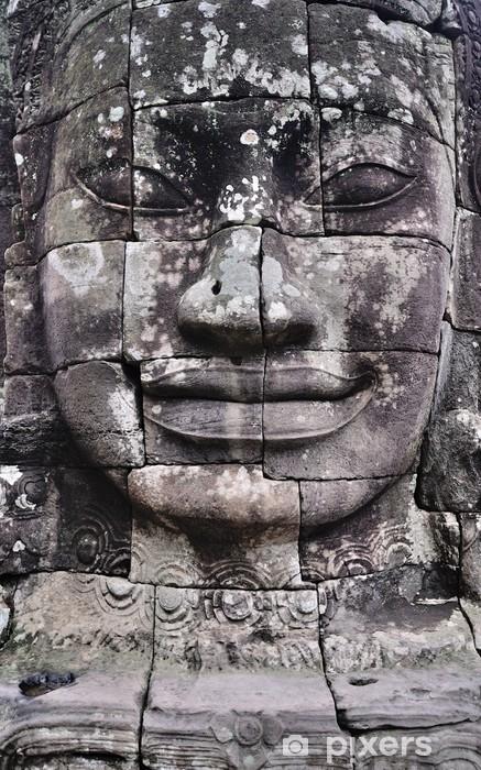 Naklejka Pixerstick Stone face angkor - Azja