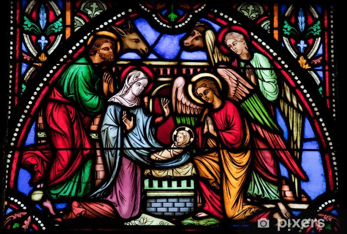 Nativity Scene Stained Gl Window