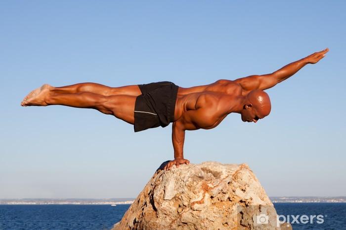 balance strong man Pixerstick Sticker - Health