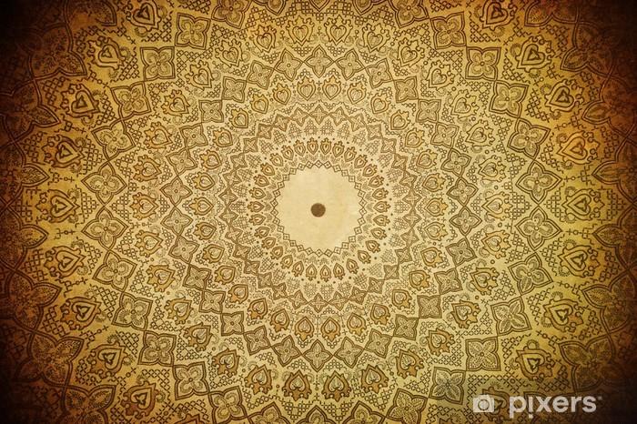 Naklejka Pixerstick Kopuła meczetu, orientalne ornamenty z Samarkanda, uzbekista - Style